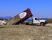 Haul a day junk removal Dunp truck at landfill